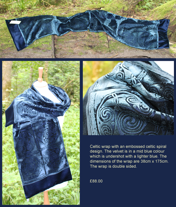 mid blue wrap